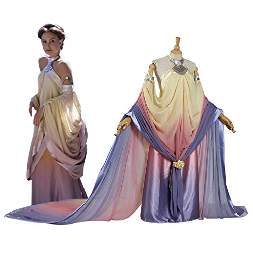 Eddialdivia Women's Dress of Star Wars Padme Amidala Halloween Cosplay Costume Custom-Made (XL) (Star Wars Queen Amidala Costume)