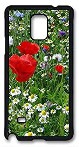 Beautiful Prairie Fleurie DIY Hard Shell Black Samsung Galaxy Note 4 Case Perfect By Custom Service