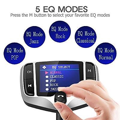 Nulaxy Bluetooth FM Transmitter for Car, 1.8
