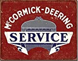 """New McCormick Deering Service 16"""" x 12.5"""" (D2170) Antique Aged Appearance Advertising Tin Sign"""