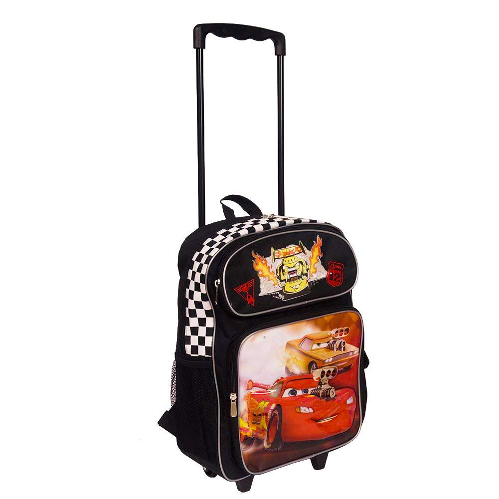 Details about New Disney Cars 16 Inch Wheeled Backpack for Kids - Rolling  School Bags for Boys e31a36107dba0