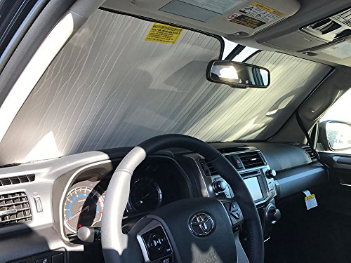 - The Original Windshield Sun Shade, Custom-Fit for Toyota 4Runner SUV 2010-2019, Silver Series