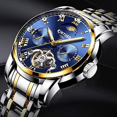LILI 腕時計 防水 機械式 多機能 ビジネス ウォッチ 生活防水 シンプル 高級感 通学 通勤 多色入 (Color : 03ブルー, Size : フリー)