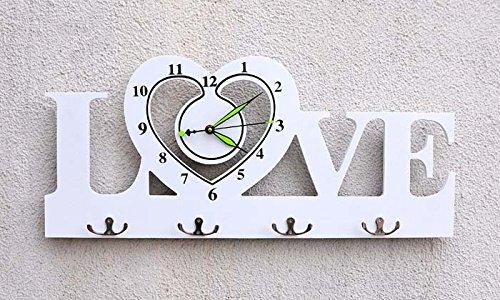 Ling @ Temperatura y Humedad Mode creativo cuarzo mesa IKEA Salón Moderno Reloj de pared Mute, White: Amazon.es: Hogar