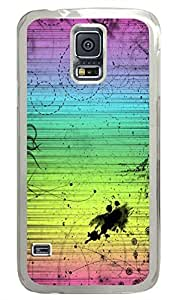 The Rainbow Lines Graffiti PC Transparent Hard Case Cover Skin For Samsung Galaxy S5 I9600