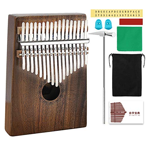 AXHJ Kalimba 17 keys with Study Instruction and Tune for sale  Delivered anywhere in USA