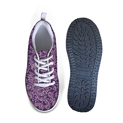 Dellukee Walking Sneakers Lightweight Cute Comfortable Classic Womens Sneaker Shoes Purple iDzoKc