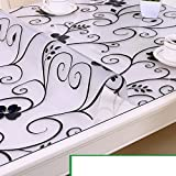 Tablecloth/waterproof pvc tablecloth/burn-proof,soft,glass,plastic tablecloths/coffee table table mat/transparent,frosted crystal plate-G 90x160cm(35x63inch)