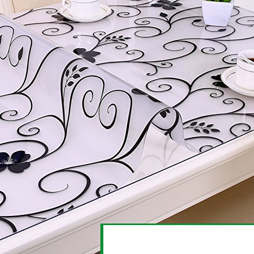 Tablecloth/waterproof pvc tablecloth/burn-proof,soft,glass,plastic tablecloths/coffee table table mat/transparent,frosted crystal plate-G 90x160cm(35x63inch) by HRCGFHGFHXH