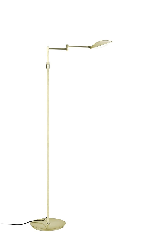 Trio Leuchten LED Stehleuchte, Metall, Integriert, 10 W, Messing matt, 71 x 25 x 140 cm