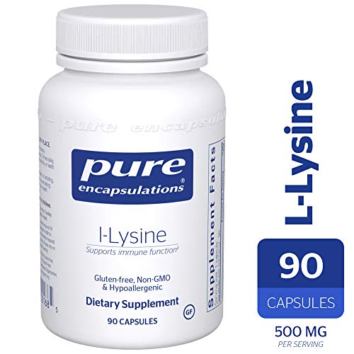 Pure Encapsulations - l-Lysine - Hypoallergenic Supplement Helps Maintain Healthy Arginine Levels and Immune Function* - 90 Capsules (Best Diet For Acne Sufferers)