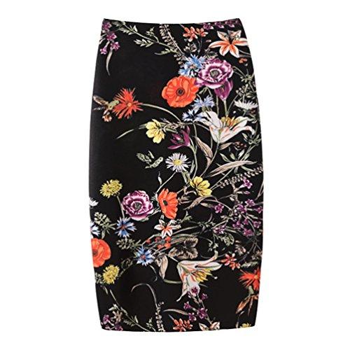 Yuanu Femme Doux Confortable Jupe Courte Serre Mode Impression Numrique Zipper Jupe Moulante Impression Style 3