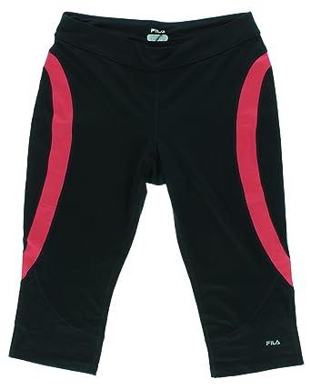 5358fb9a1295 Amazon.com  Fila Womens Running Capris Black M  Clothing