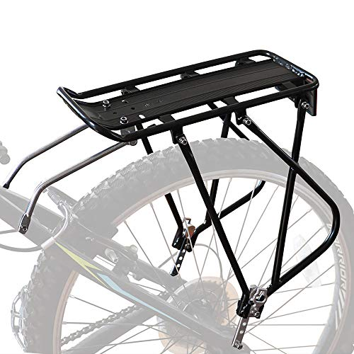 Bike Cargo Rack w/Bungee Cargo Net & Reflective Logo Universal Adjustable Bicycle Rear Luggage Touring Carrier Racks…