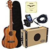 Oscar Schmidt OU6LCE Acoustic Electric Koa Tenor Ukulele Amplifier Package
