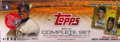 (2012 Topps Baseball Factory Sealed Complete Set with Exclusive Willie Mays Chrome Refractor Card)