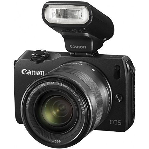 Canon EOS M 18.0 MP Compact Systems Mirrorless Camera with EF-M 18-55mm IS STM Lens and Speedlite 90EX Flash – International Version (No Warranty)