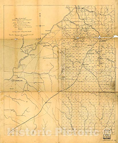 Historic 1864 Map | Map of Part of Fulton, Fayette, and Campbell Counties, from surveys, State map, and Information, Extra Copies to be Filled up and Returned for Second Edition 20in x 24in