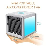 SL&LFJ Miniature cooling fan,Portable cooling water fan home dormitory outdoor air conditioner usb water air conditioning fan with remote control-A
