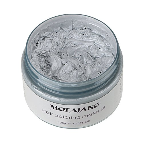 ANMAS RUCCI Unisex DIY Hair Color Wax Mud Dye Cream Temporary Modeling Gray Color 120g -