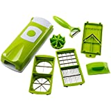 Moldiy Food Salad Vegetable All-in-one Potato Onion Tomato Apple Egg and Garlic Dicer Chopper Cutter Mandolin Slicer and All-purpose Random