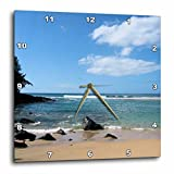 Patricia Sanders Hawaii Tropical Beach Wall Clock, 10 by 10-Inch
