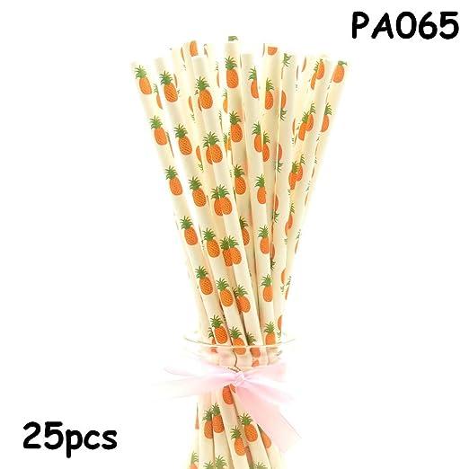 25 pajitas de papel para decoración de cumpleaños, diseño de ...