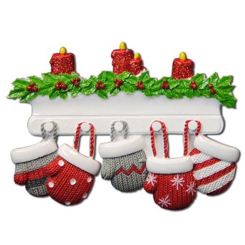 Christmas Family Ornaments (Polar X Christmas Ornament Mitten Family Of 5 Christmas Ornament)