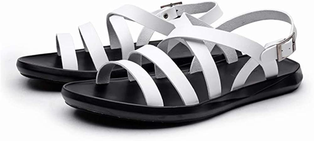 US Men FORTUN Mens Fashion Beach Shoes Fisherman Shoes Leather Sandals White Lable 44//10 D M
