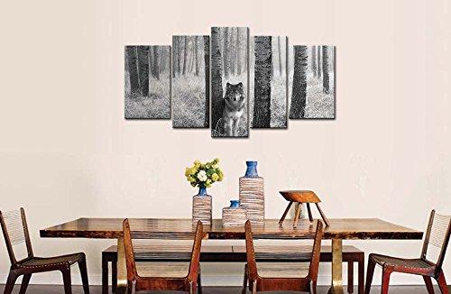 5 PANEL WOLF EYES  CANVAS ART WALL ART  BRAND NEW
