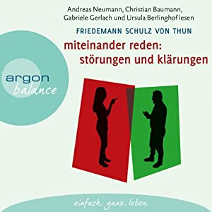 Miteinander reden 1: Störungen und Klärungen Audiobook
