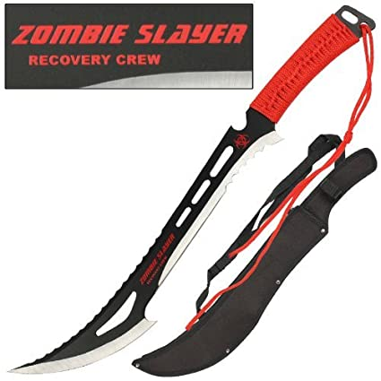 Amazon.com: Zombie Slayer Recuperación Crew espada cuchillo ...