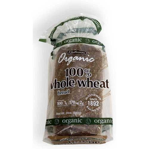 Klosterman Organic Raisin Bread Loaves, 24 Ounce -- 10 per case.