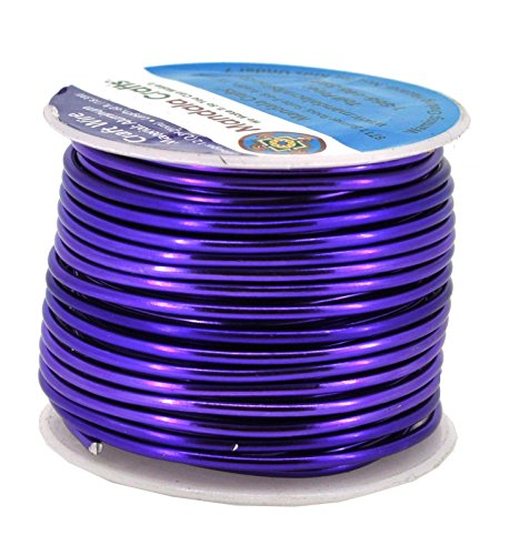 Mandala Crafts Anodized Aluminum Wire for Sculpting, Armature, Jewelry Making, Gem Metal Wrap, Garden, Colored and Soft, 1 Roll(12 Gauge, Purple)