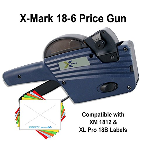 X-Mark Price Guns (10): TXM 18-6 Bulk PRICING [1 Line / 6 Characters] by Infinity Labels