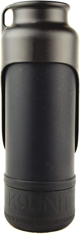 Shadow Black H2O4K9 K9 Unit Insulated Dog Water Bottle 25-Ounce