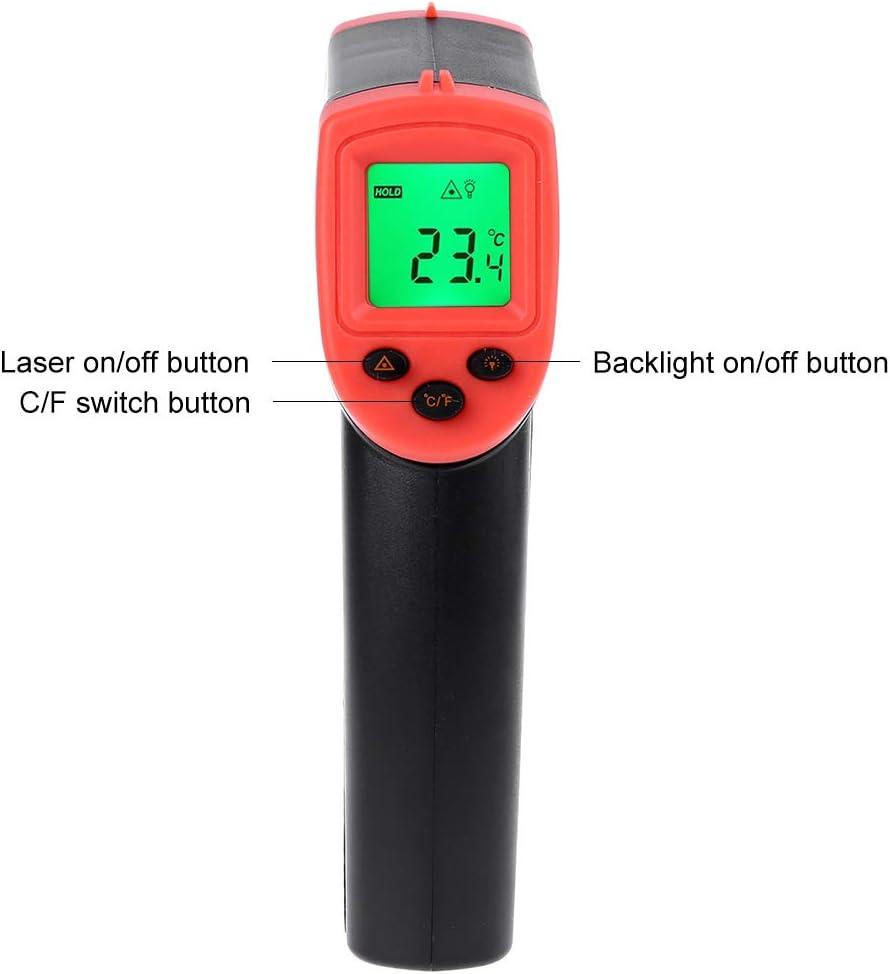 Eliky Termometro digitale a infrarossi 50~600 gradi per misurazione della temperatura