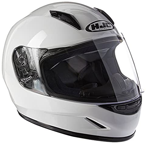 HJC Helmets CL-Y Youth Helmet (White, Small) - White Full Face Helmet