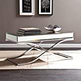 Cocktail Tables for Sale Ava Mirrored Cocktail Table - Chrome Frame Finish - Contemporary Glam Style