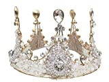 Exquisite Selebrity Crystal and Rhinestones Wedding Bridal Pageant Queen Large Tiara Crown