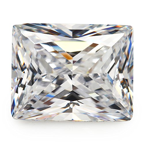 50PCS Size 3x5mm AAAAA White Rectangle Baguette Shape Princess Cut Europe Machine Cut Loose CZ Cubic Zirconia Gemstone JIANGYUANGEMS (3x5mm 50pcs)