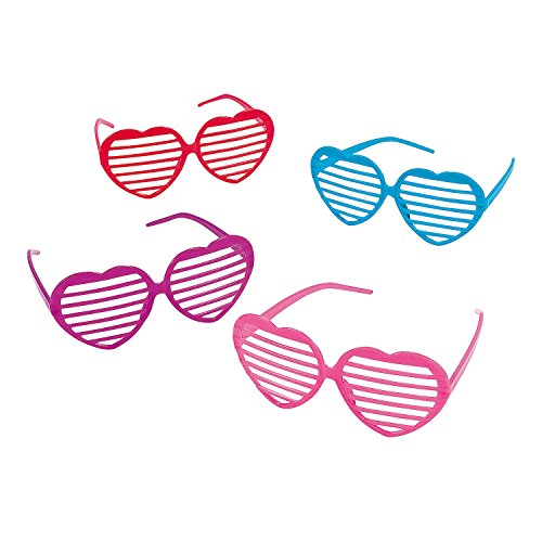 Plastic Heart Shaped Glasses