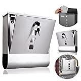 Wall Mail Box Stainless Steel Letter Mail Post Box Wall Mountable with Newspaper Holder Fast Shipping