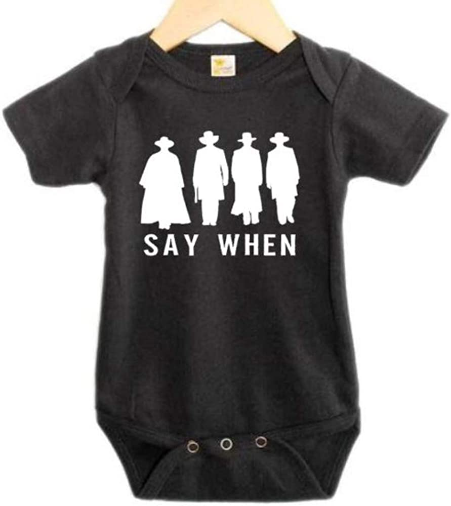 Say When, Tombstone Onesie, Unisex Infant Bodysuit, Funny Baby Outfit