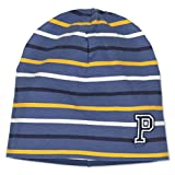 Polarn O. Pyret Striped ECO Beanie (9-12YRS) - Ensign Blue/9-12 Years
