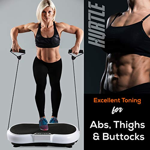 Hurtle Fitness Vibration Platform Workout Machine | Exercise Equipment For Home | Vibration Plate | Balance Your Weight…