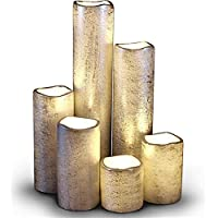 LED Lytes Flameless Timer LED Candles Slim Set of 6