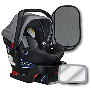 Image of Britax B-Safe 35 Infant Car Seat, Dove, Back Seat Mirror, and 2 EZ-Cling Window Sun Shades Baby