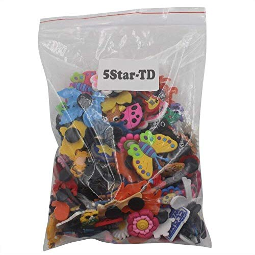 Large Product Image of 5Star-TD Lot of 100 Pcs Different Random Charms for Croc Shoes & Jibbitz Bands Bracelet Wristband