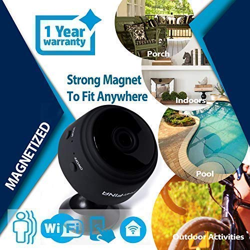 ... 1080p HD Spy Camera, Small Spy Cam with Audio/Video, Nanny Cam with Motion Detection/Night Vision/Indoors/Outdoors Camaras Espias : Camera & Photo